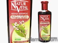 Оцветяващ шампоан за коса интензивен-червена/махагон-Natur Vital