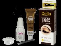 Крем-къна за оцветяване на вежди и мигли тъмно кафява - Delia