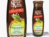 Оцветяваща маска за коса интензивна - тъмно кафява - Natur Vital