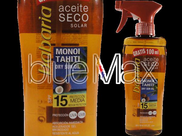 Водоустойчиво слънцезащитно сухо олио за лице и тяло с екстракт от кокос SPF15 - Babaria