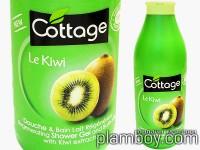 Душ-гел, мляко за тяло и пяна за вана 2 в 1 с киви - Cottage