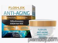 Възстановяващ нощен крем за лице против бръчки Mineral Therapy - Floslek