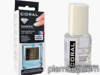 Балсам, база за нокти с диамантен прах Coral Pharma Diamond - Delia