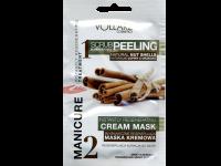 Пилинг и интензивно възстановяваща маска за ръце с канела Vollare - Verona